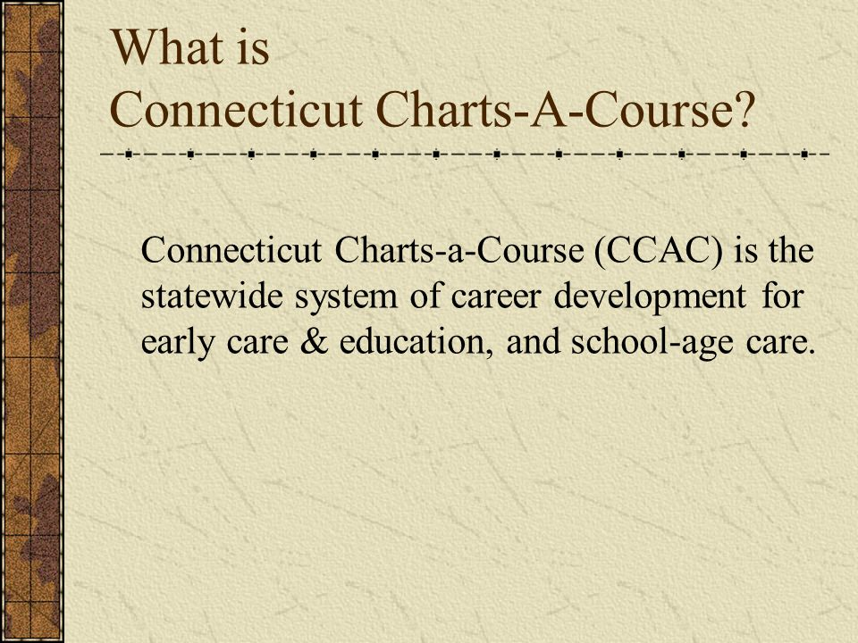 What is Connecticut Charts-A-Course