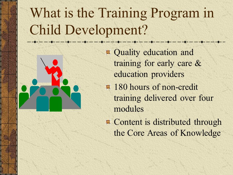 What is the Training Program in Child Development