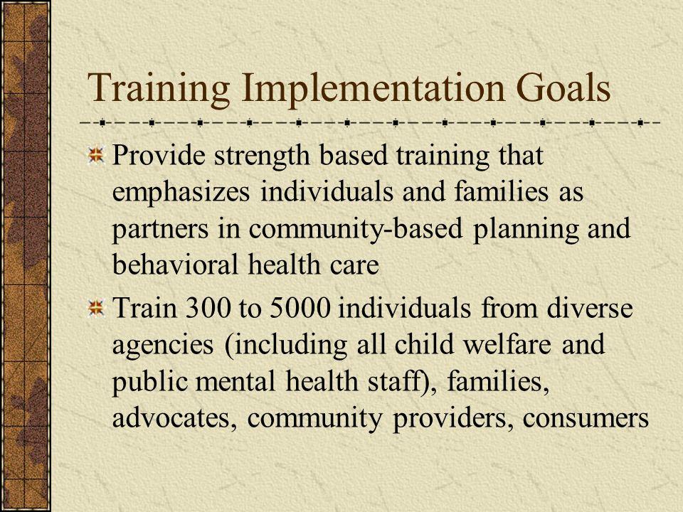 Training Implementation Goals
