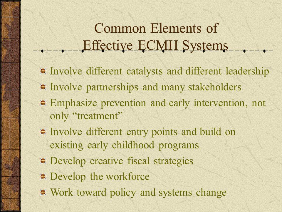 Common Elements of Effective ECMH Systems