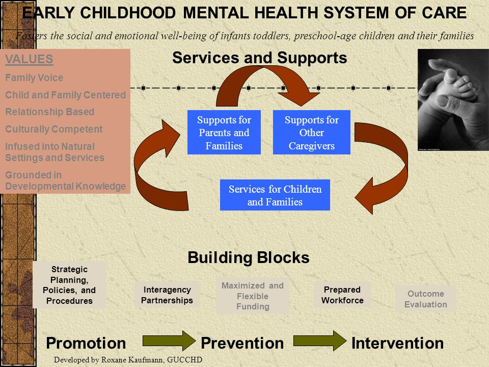 EARLY CHILDHOOD MENTAL HEALTH SYSTEM OF CARE Building Blocks