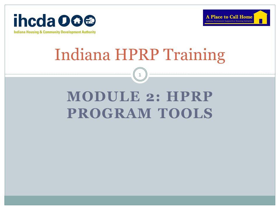 Module 2: HPRP Program toolS