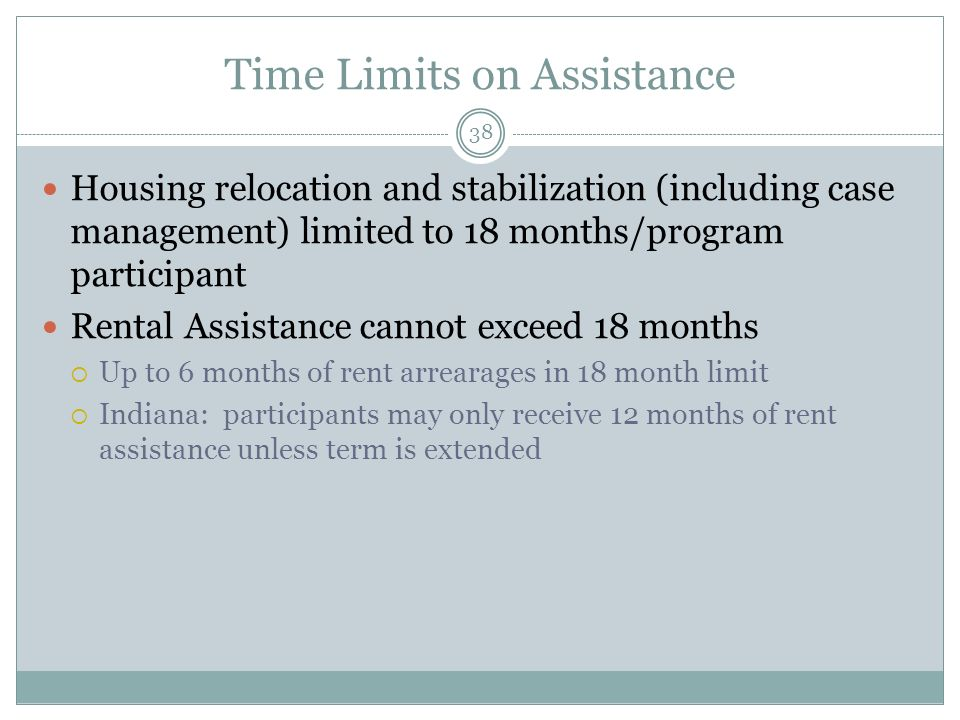 Time Limits on Assistance