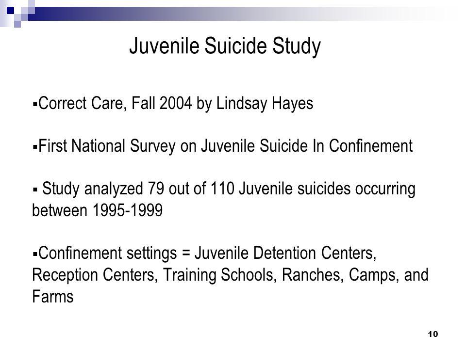 Juvenile Suicide Study
