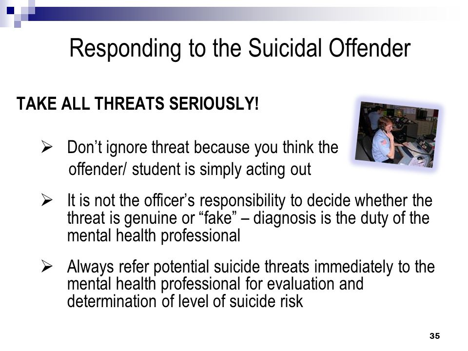 Responding to the Suicidal Offender