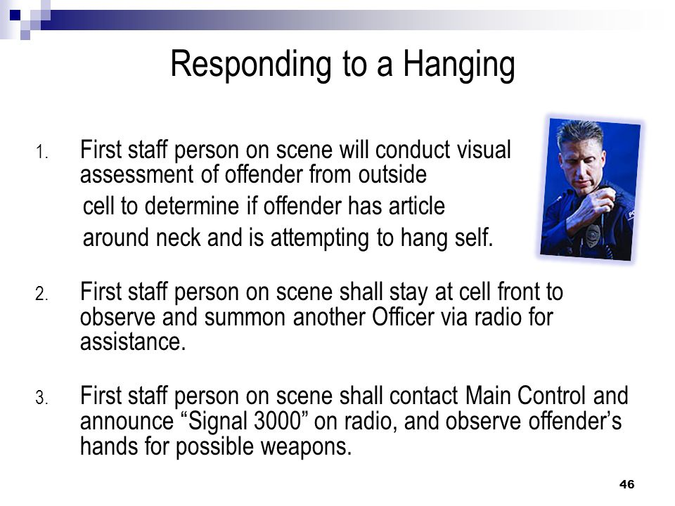 Responding to a Hanging