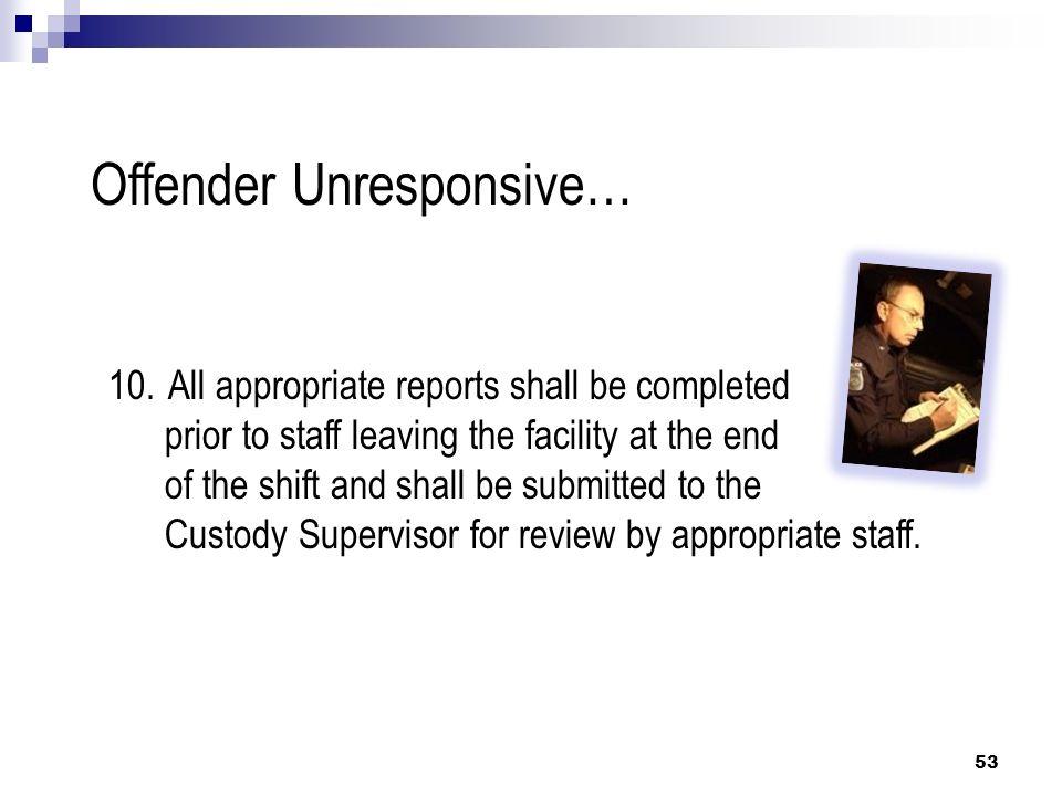 Offender Unresponsive…