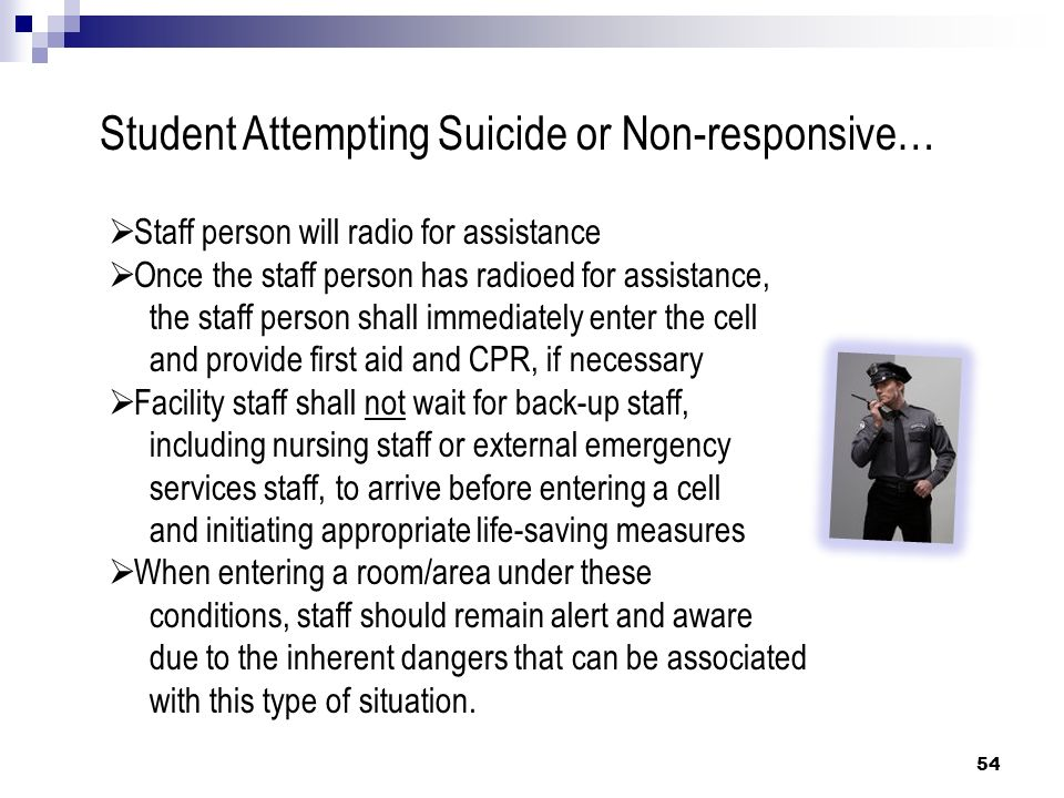 Student Attempting Suicide or Non-responsive…