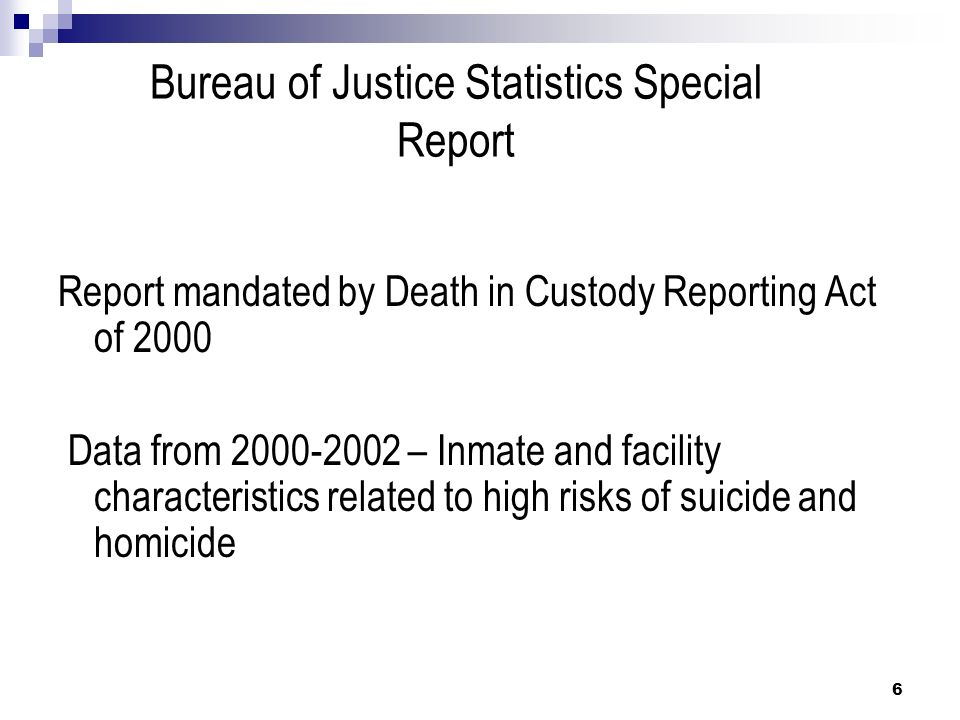 Correctional officer training suicide prevention ppt for Bureau report