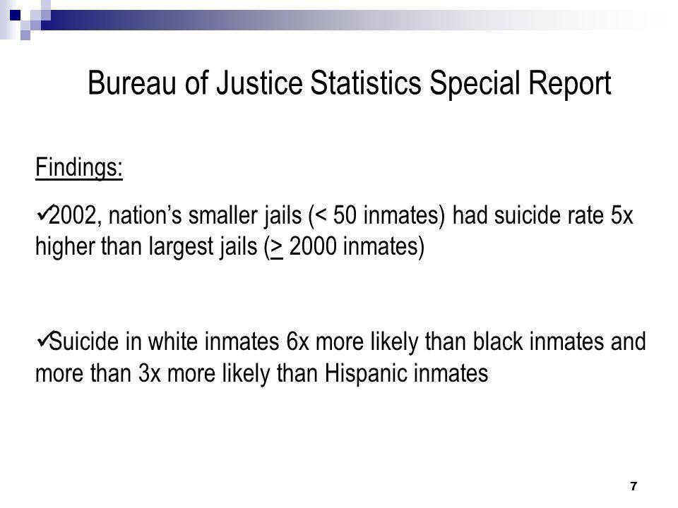 Correctional officer training suicide prevention ppt for Bureau justice statistics