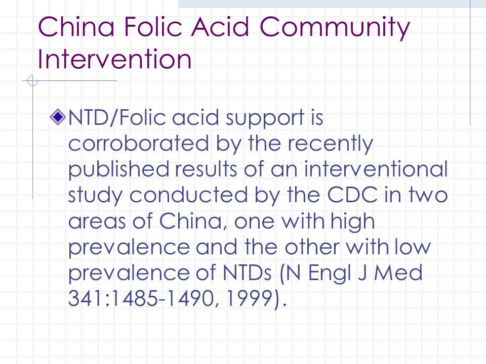 China Folic Acid Community Intervention