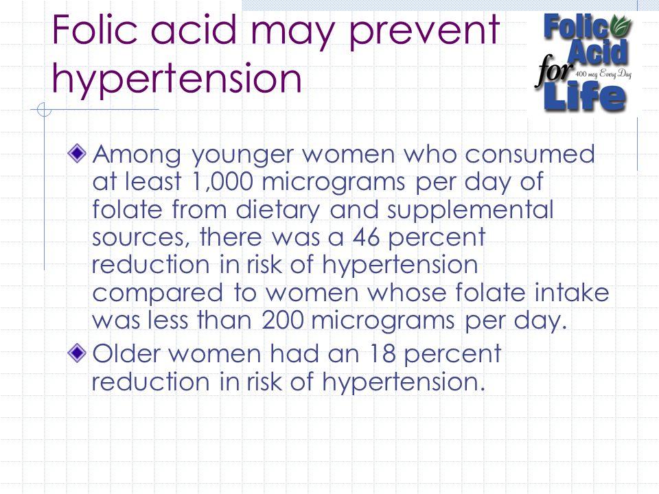 Folic acid may prevent hypertension