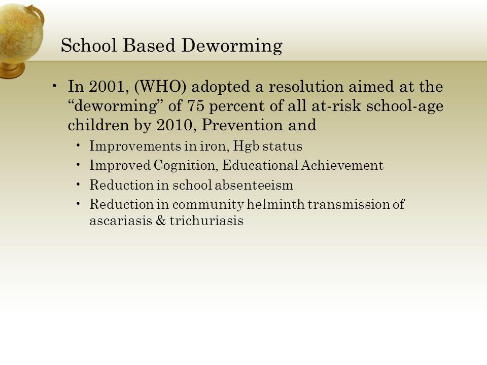 School Based Deworming