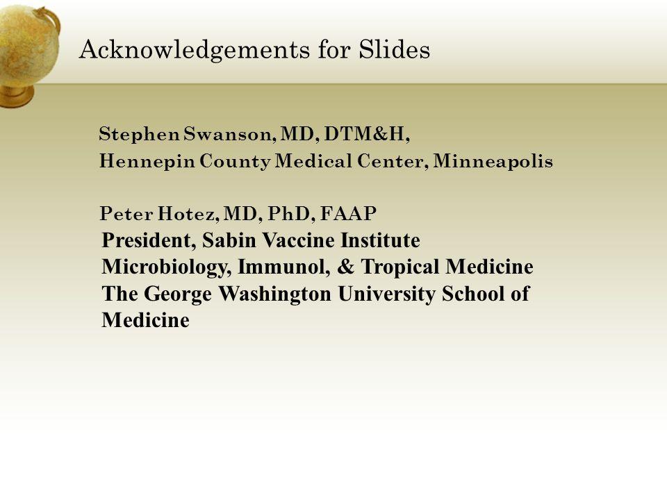 Acknowledgements for Slides