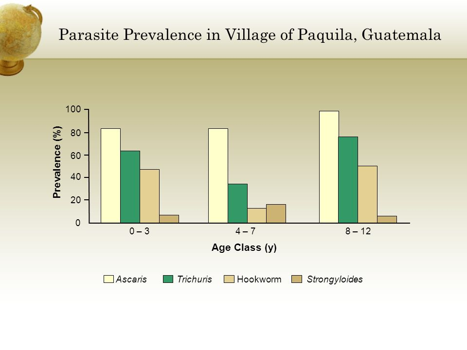 Parasite Prevalence in Village of Paquila, Guatemala