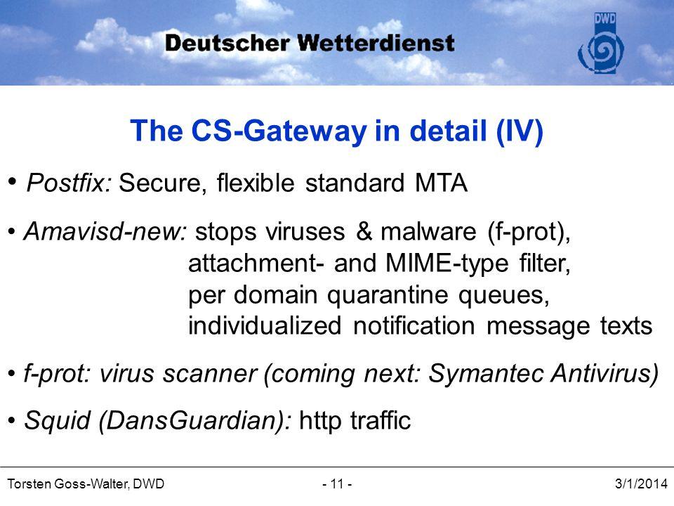 The CS-Gateway in detail (IV)