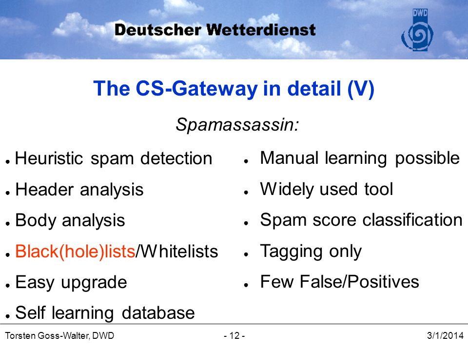 The CS-Gateway in detail (V)