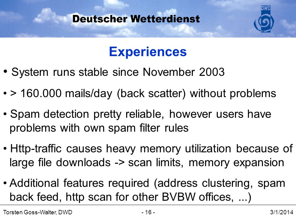 System runs stable since November 2003