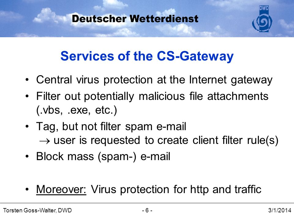 Services of the CS-Gateway