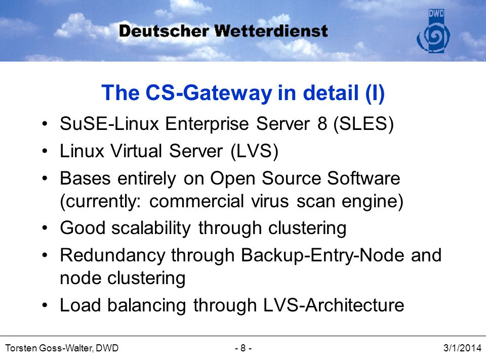 The CS-Gateway in detail (I)