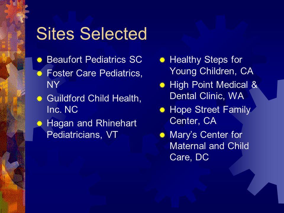 Sites Selected Beaufort Pediatrics SC Foster Care Pediatrics, NY