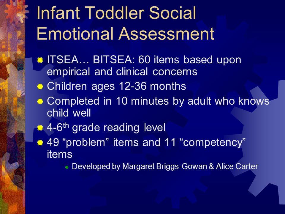 Infant Toddler Social Emotional Assessment