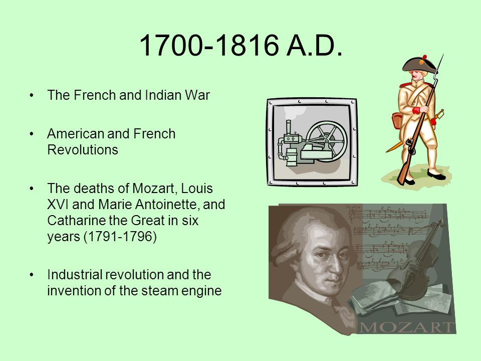 1700-1816 A.D. The French and Indian War