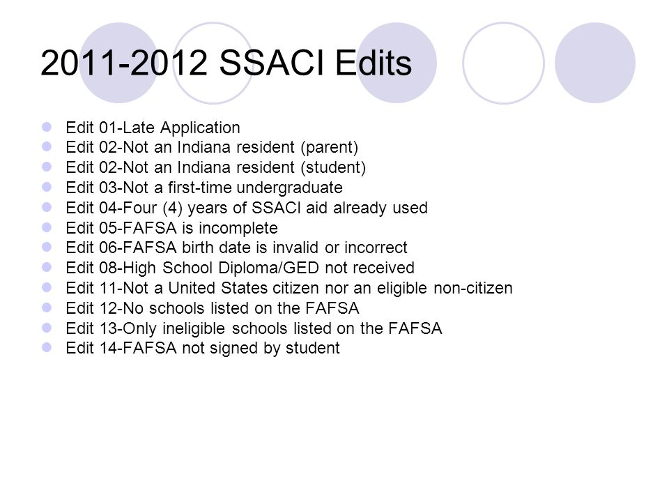 2011-2012 SSACI Edits Edit 01-Late Application
