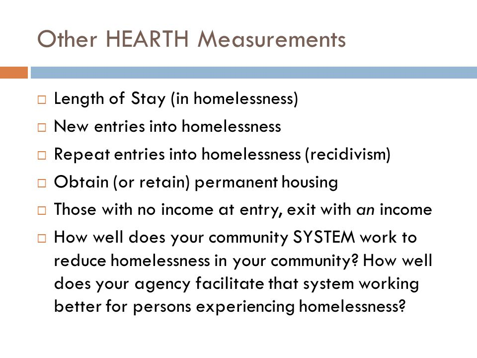 Other HEARTH Measurements