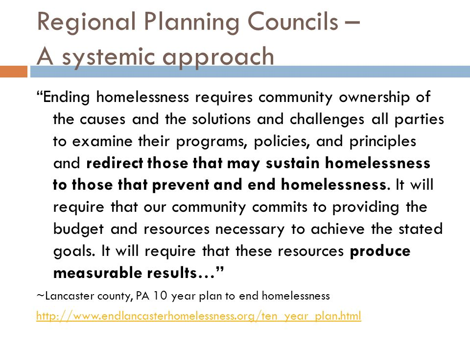 Regional Planning Councils – A systemic approach