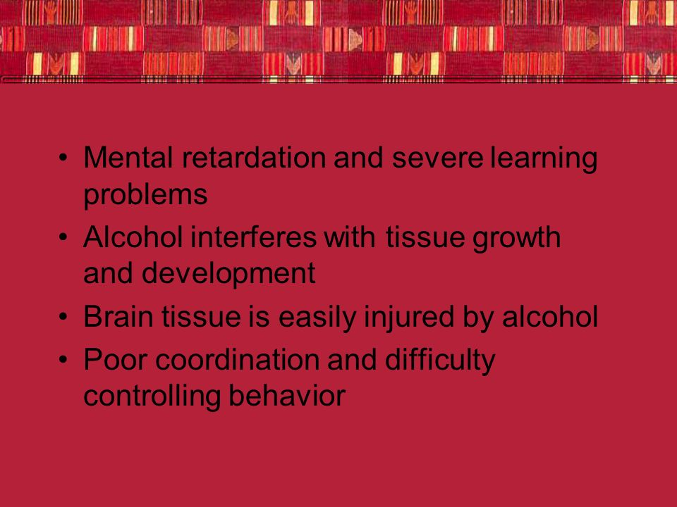 Mental retardation and severe learning problems