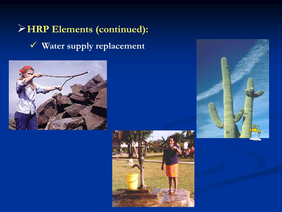 HRP Elements (continued):
