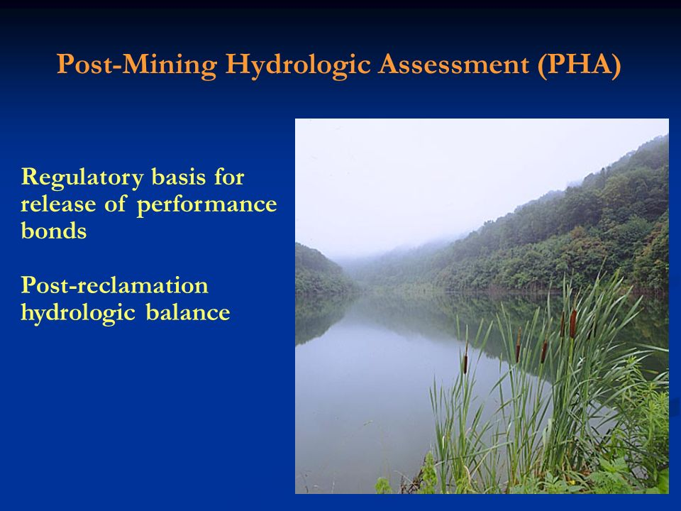 Post-Mining Hydrologic Assessment (PHA)