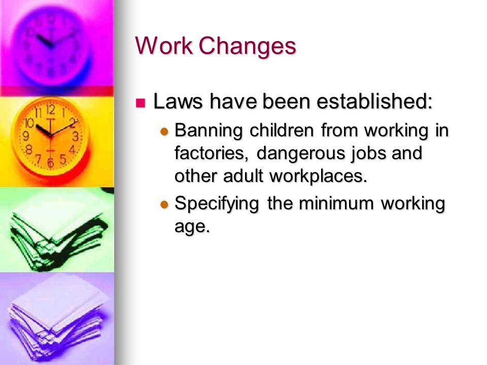 Work Changes Laws have been established: