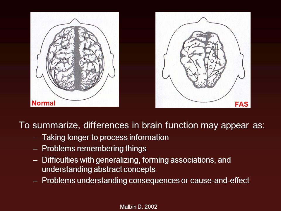 To summarize, differences in brain function may appear as: