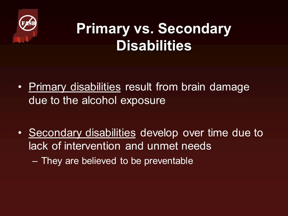 Primary vs. Secondary Disabilities