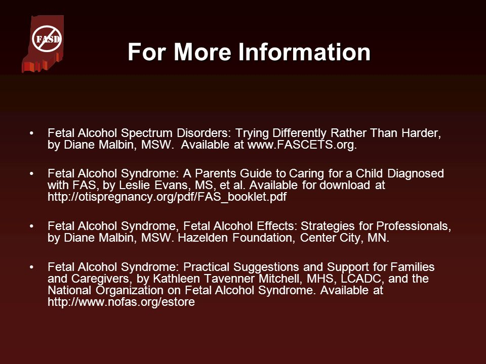 FASD For More Information.