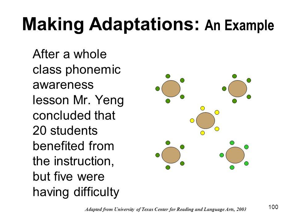 Making Adaptations: An Example