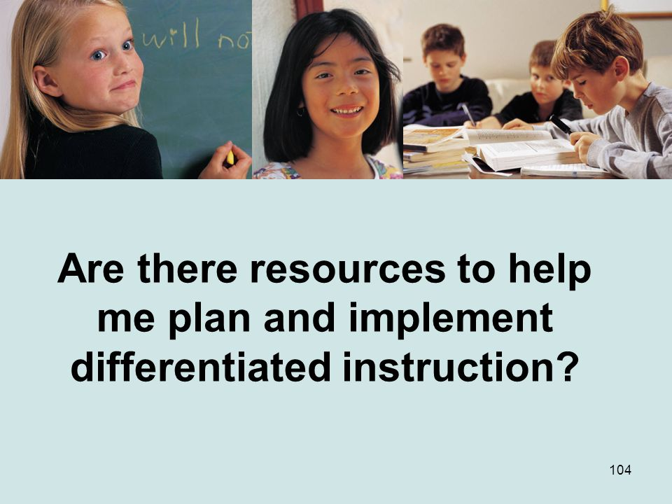 Are there resources to help me plan and implement differentiated instruction