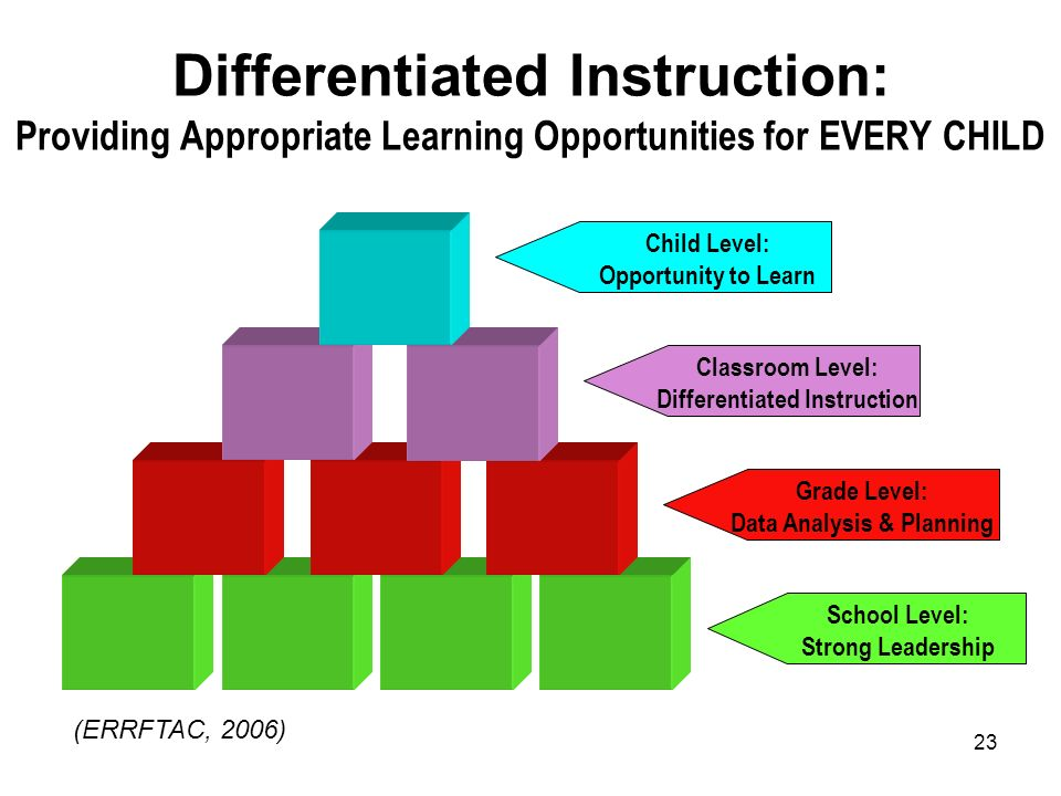 Differentiated Instruction: Providing Appropriate Learning Opportunities for EVERY CHILD