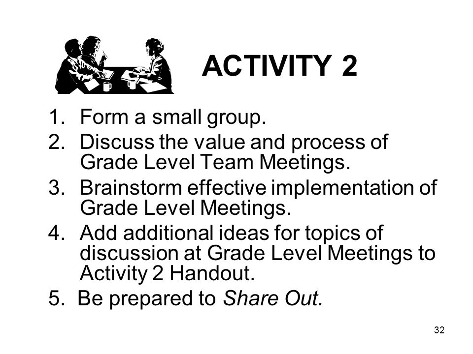 ACTIVITY 2 Form a small group.