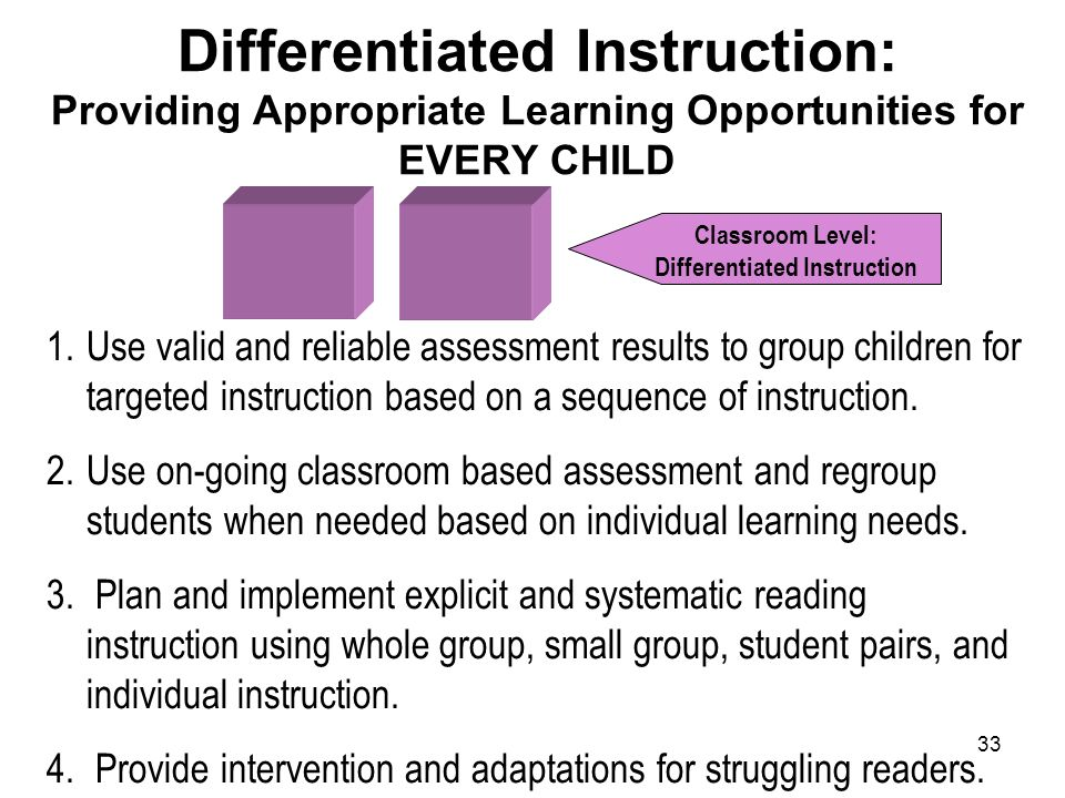 Classroom Level: Differentiated Instruction