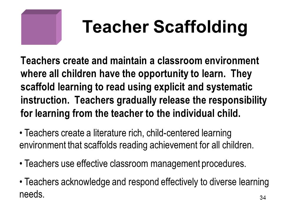 Teacher Scaffolding