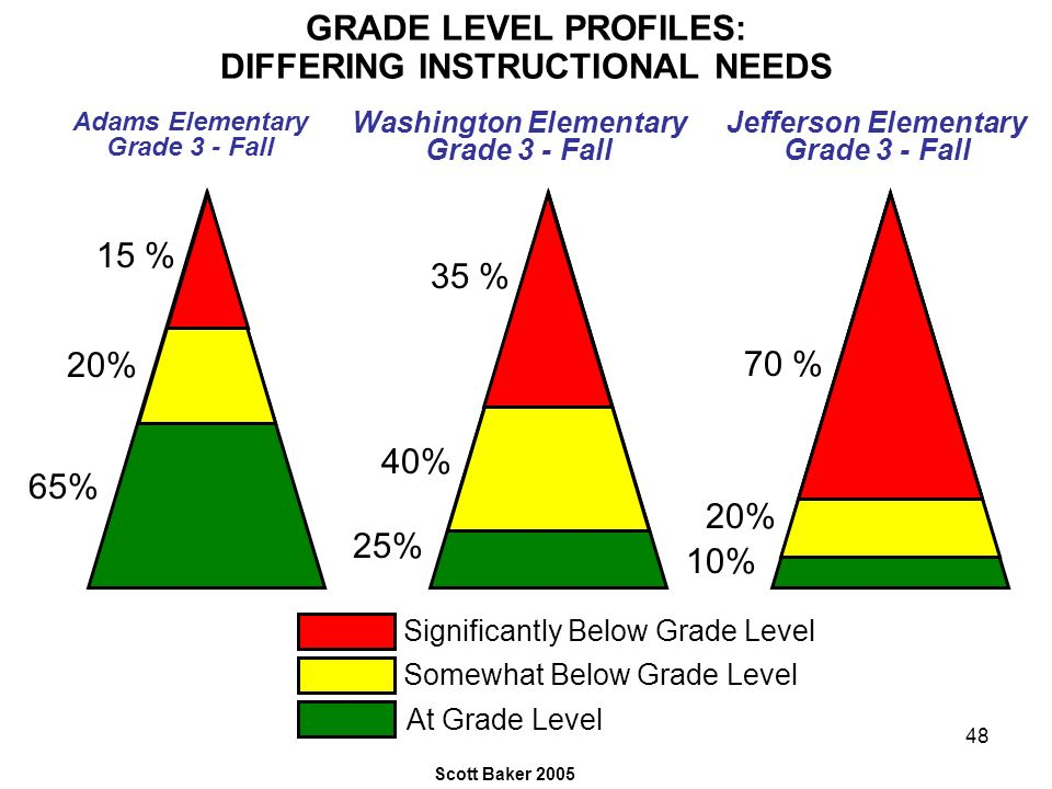GRADE LEVEL PROFILES: DIFFERING INSTRUCTIONAL NEEDS