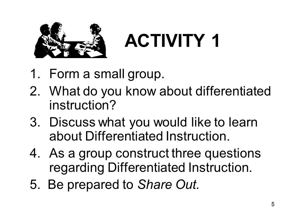 ACTIVITY 1 Form a small group.