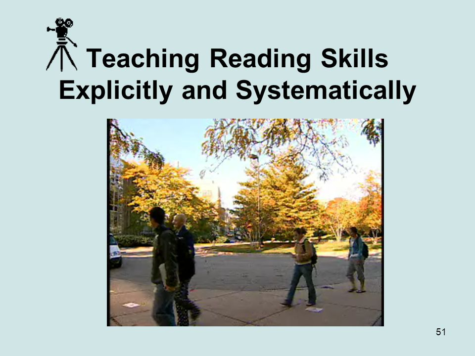 Teaching Reading Skills Explicitly and Systematically