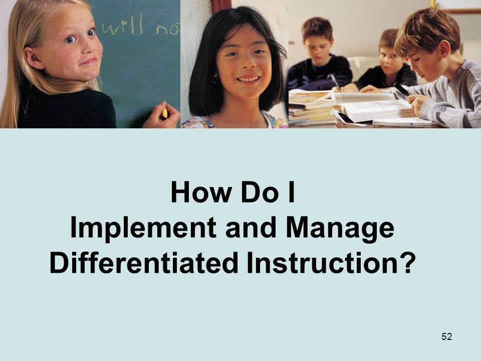How Do I Implement and Manage Differentiated Instruction