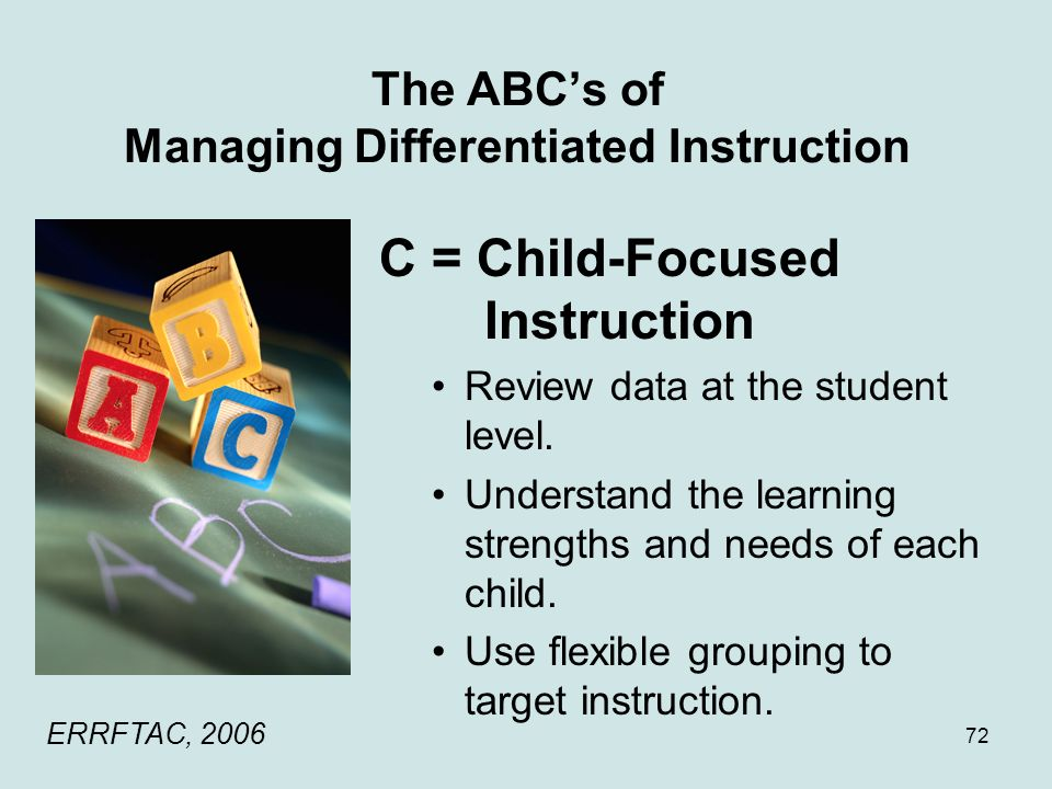 The ABC's of Managing Differentiated Instruction