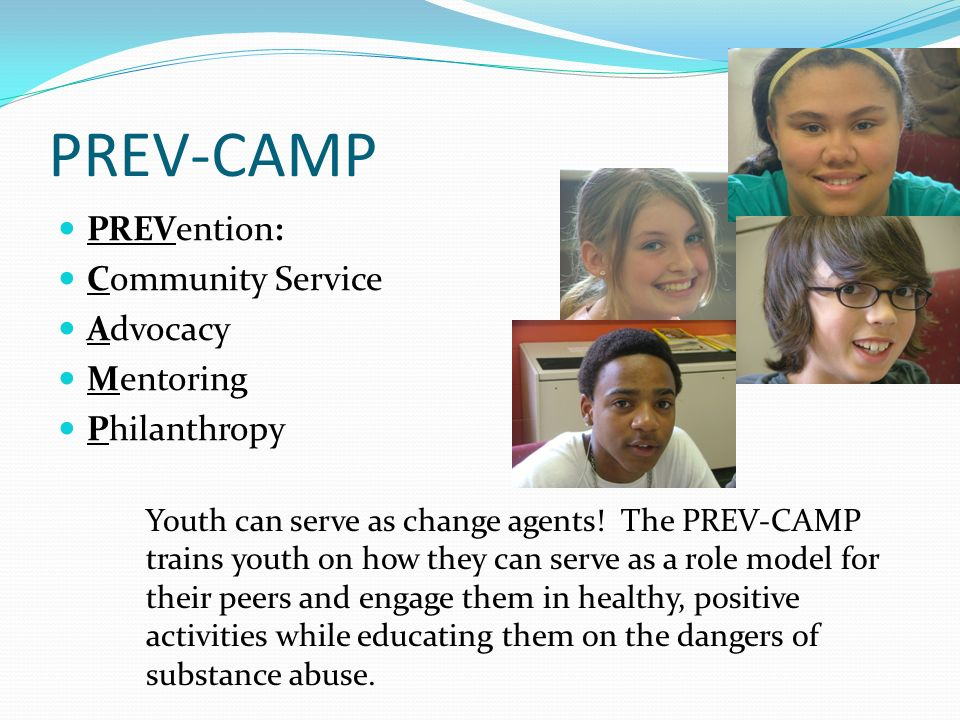 PREV-CAMP PREVention: Community Service Advocacy Mentoring