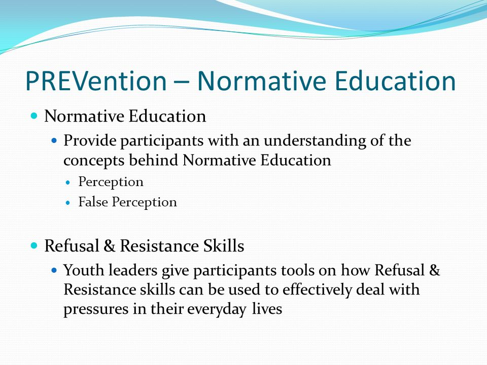 PREVention – Normative Education